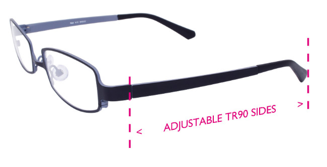 Erin's World Frame showing the adjustable (TR90) long sides variation.